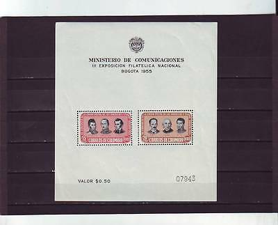 a130 - COLOMBIA - SGMS861 MNH 1955 7th POSTAL UNION CONGRESS OF AMERICAS & SPAIN