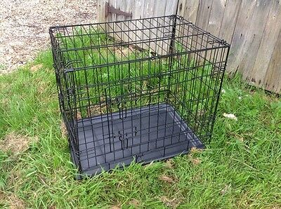 Small Dog Puppy Coated Steel Cage Crate, 62 Cm Long
