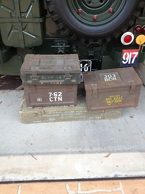 Ex- Army ammo boxes