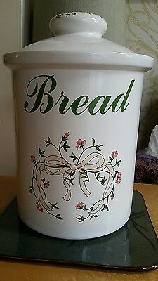 ETERNAL BEAU Large Ceramic BREAD CROCK Bin with Lid