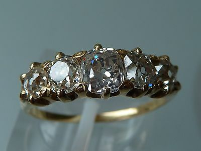 Stunning Edwardian  Diamond Five Stone  Ring 18Ct 1.40Ct