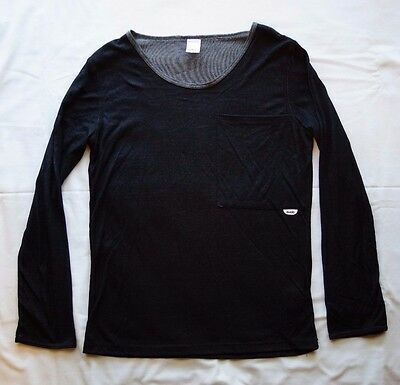 Sudo Boys Long Sleeve Shirt Top Black - Size 12 NEW
