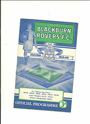 1959/60 FA Cup 3rd round replay  Blackburn Rovers v Sunderland