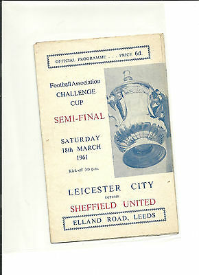 1960/61 FA Cup  Semi Final   LEICESTER CITY  V  SHEFFIELD UNITED