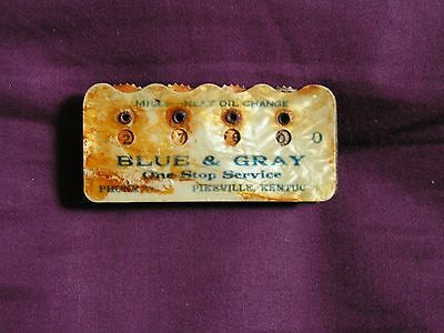 Vintage Blue+Gray One Stop Service Miles To Next Oil Change Meter Pikeville,ky