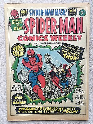 Spider-Man Comics Weekly #1 WITH FREE GIFT Spiderman Mask - Feb 17th 1973