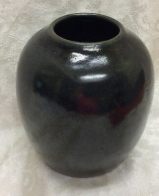 Jugtown, Chinese Form, Frogskin Glaze, 20th Century Vase, N. C. Art Pottery