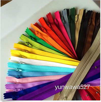 5~200pcs Colorful Nylon Coil Zippers 35cm(14Inch) Tailor Sewing Craft 20 Color