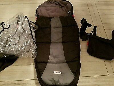 Lot of Phil & Teds Sleeping Bag, Rain Shield, Cup Holder and Bag