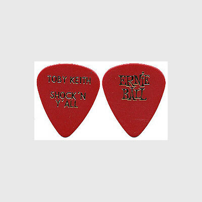 Toby Keith authentic 2003 Shock N Y'ALL tour issued custom stage Guitar Pick