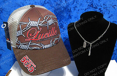 The Walking Dead Exclusive Hat Lucille Terrapin Beer Velcro & Pendant Necklace