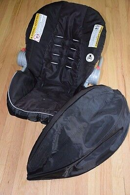 Graco SNUGRIDE 35 Click Connect Infant Car Seat Replacement Cover Canopy Black