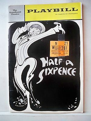 HALF A SIXPENCE Playbill TOMMY STEELE Autographed OPENING NIGHT NYC 1965