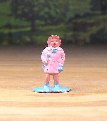 Barclay Metal Figure People Little Girl Passenger  #371 O /s Scale Train Layout