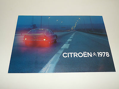 Catalogue CITROEN 1978 2cv DYANE MEHARI AMI 8 GS CX LN - Brochure Prospekt