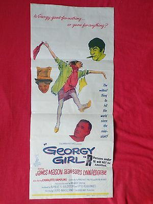 Georgy Girl Poster 1966 Orig Aussie 30 X 13 Inches Alan Bates Charlotte Rampling