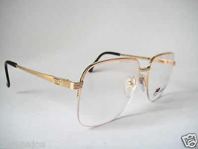 AO 9319 American Optical 59-15 Gold Plaited Frame Glasses H.Rimless Vintage Men