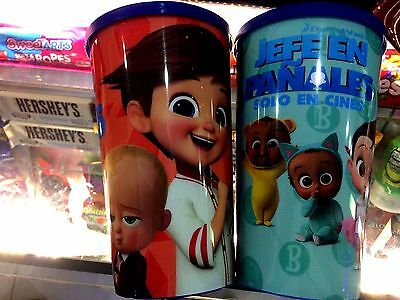 2017 The BOSS BABY movie theater cups set of 2 Mexico esclusive