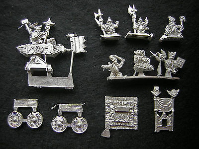 10mm Warmaster Dwarf King on Throne of Power & Anvil of Doom