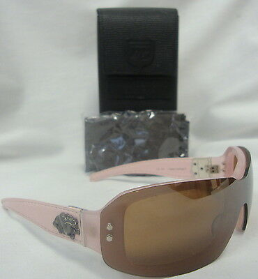 a74af20213b Kieselstein-Cord Happy Endings Ii Pink   Brown With Silver Dragon Sunglass  Euc