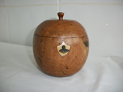 Charming Old Tea Caddy in form of an Orange with lock & key