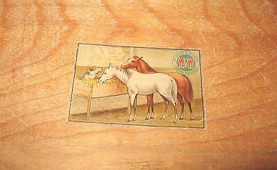 Wheeler & Wilson Sewing Machines Trade Card The Dog in the Manger Horses