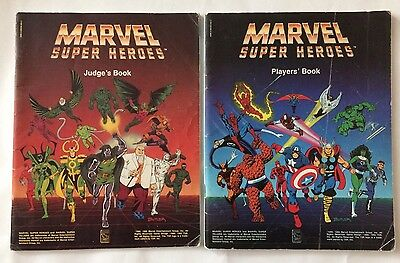 Marvel Super Heroes Map, Judge's & Player's Books (1992) TSR RPG