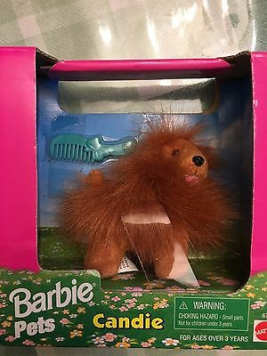 Vintage Barbie Pets Candie the Brown Stuffed Dog New In Box 1996