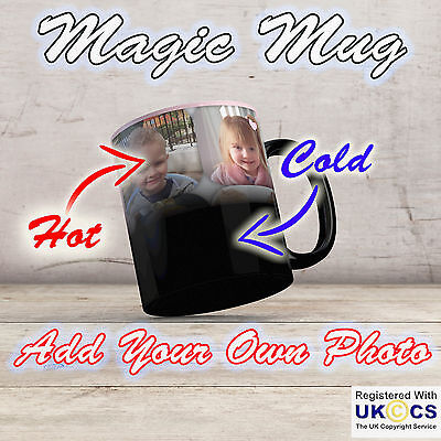 Personalised Heat Colour Changing Magic Mug - Great Gift - Photo Mug