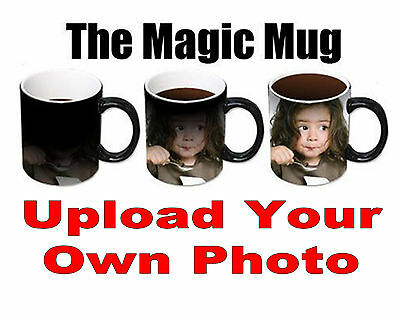 Personalised Heat Colour Changing Magic Mug - Great Birthday Gift - Photo Mug