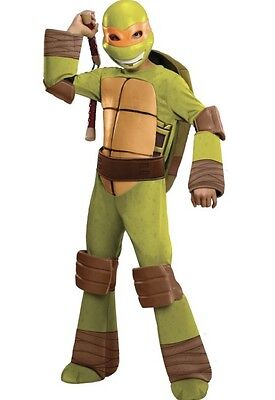 NEW TMNT Teenage Mutant Ninja Turtle Michelangelo Halloween Costume M Kids Boys