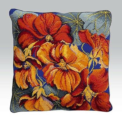 EHRMAN 1994 NASTURTIUM CUSHION by ELIAN McCREADY TAPESTRY NEEDLEPOINT RARE KIT