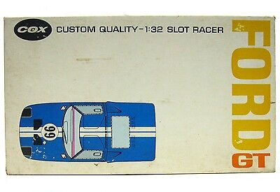 Vintage 1960's Cox Ford GT40 Le Mans 1/32 Model Racer Slot Car w/Chassis & Box