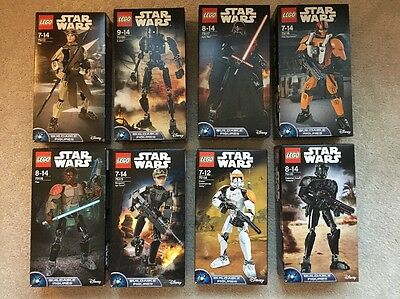 8 X  Lego Star Wars Buildable Figures (New - Sealed)