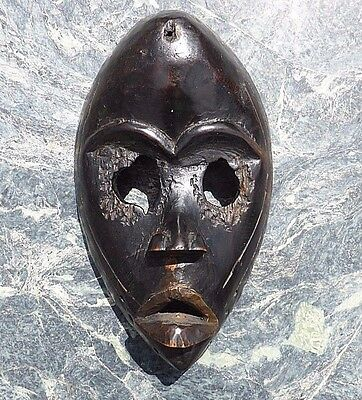 West African Tribal Art Dan People Carved Wooden Mask Not Club Spear Axe Shield