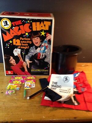 Remco The Magic Hat Irwin W/box Instructions Wand + Extras 1975 40100