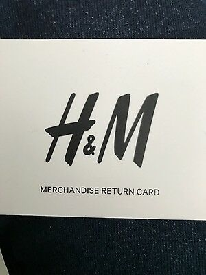 H&M Gift Card £34.99 voucher credit note