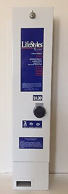 Lifestyles Condom $1.00 Vending Machine Dispenser Stainless Steel with key