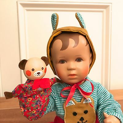 Kathe Kruse 12 Inch Baby Doll And Puppet Collectible - Mint