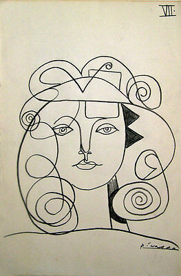 Signed Pablo Picasso art,pencil painting, Original drawing, art artwork, drawing