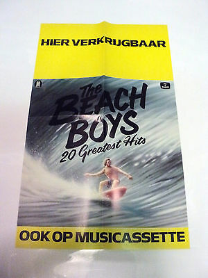 The Beach Boys Rare Original Dutch Holland Promo Poster 20 Greatest Hits 1979