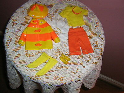 pre-owned vintage 1966-MATTEL Barbie TM FRANCIE fashion: #1258-CLAM DIGGERS
