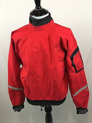 Kokatat Gore Tex XCR Dry Suit Top Water Resistant Men's Size Small Red Nice!