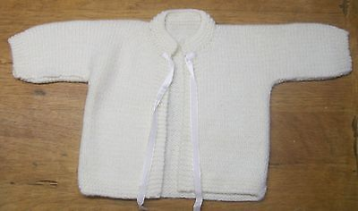 Adorable Vintage White Baby Sweater