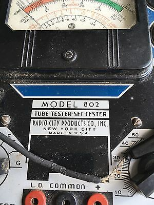 Radio City Products Co. Inc. Tube & Set Tester Model 802-Parts or Project
