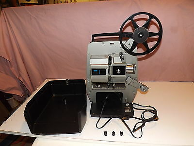WORKING Vintage Sears Du-All Eight 8mm Movie Projector For Super 8 & Regular 8