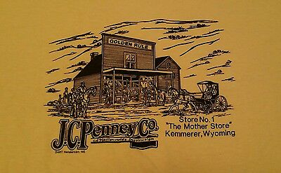 Vintage 80s JC Penney Original Store Wyoming Hanes 50/50 t shirt S/M NOS NWT