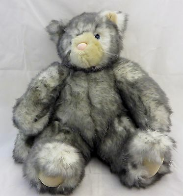 "Vermont Teddy Bear Friend for Life Plush Kitty Cat 15"" tall Excellent Condition"