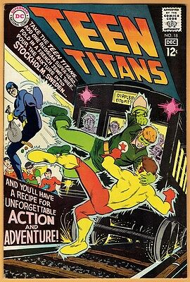 TEEN TITANS #18 DC Comics 1968 VF/NM  Robin Kid Flash Wonder Girl Aqualad