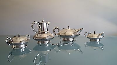 Art Deco Tea & Coffee Service By Renown. Look At The Style. One Of The Best.